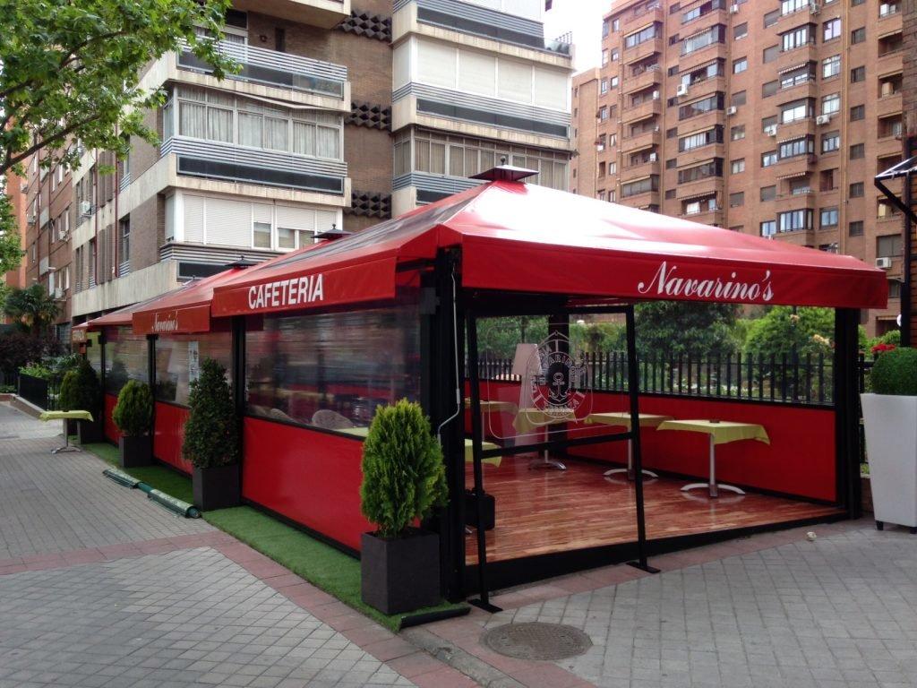 Terraza Cenador con Cerramiento
